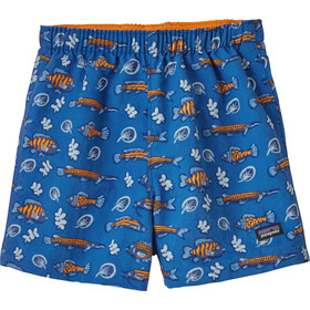 Patagonia Baggies Shorts Kids fishies in the swamp/bayou blue